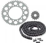 Steel Chain and Sprocket Set - Honda CG 125 F/J Brazil (1985-1991)